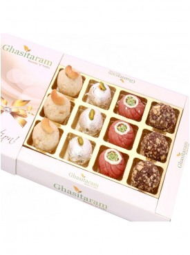 Assorted Dryfruit Sweets In White Box