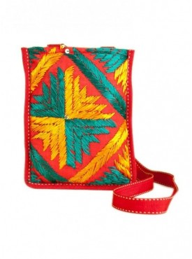 Phulkari Cross body Sling Bag