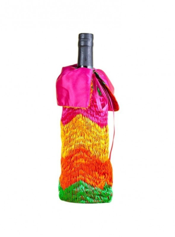 Phulkari Wine gift bag