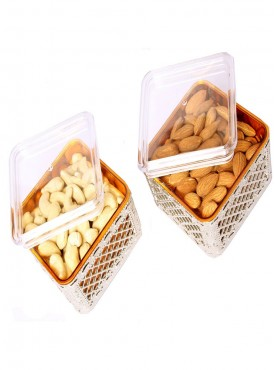Set of Two Multipurpose Dryfruit Airtight Containers