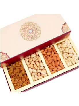 Dryfruits - Long Fusion 4 part Dryfruit Box