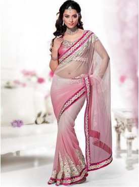 Mahotsav Art Silk Pink Color Lehenga Saree