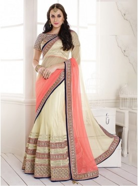 Mahotsav Art Silk Gold Color Lehenga Saree