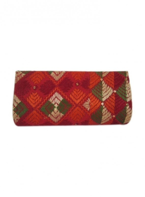 Phulkari Clutch Bag