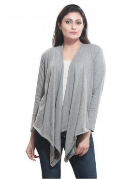 Bfly Women's Viscose Shrug (Grey)