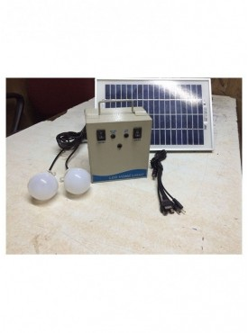 Solar Home Lighting System with 2 x 3W LED bulbs - Metal Based