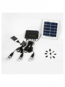 Solar Home Lighting System with 2 x 3W LED bulbs - Plastic Based