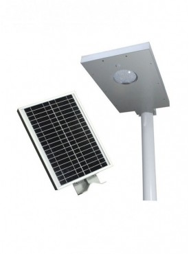All in One Integrated Solar Streetlight of 12W with inbuilt solar panel and battery