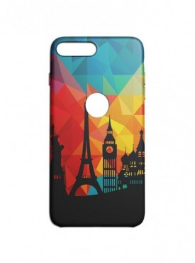 Life In Paris Graphic Printed Mobile Back Cover (iPhone 8 Plus Cases & Covers) For iPhone 8 Plus