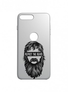 Respect The Beard Graphic Printed Mobile Back Cover (iPhone 8 Plus Cases & Covers) For iPhone 8 Plus