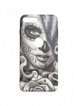 Girl Face Art Graphic Printed Mobile Back Cover (iPhone 8 Plus Cases & Covers) For iPhone 8 Plus