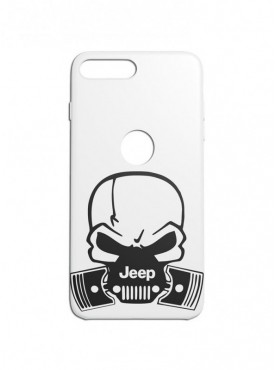 Jeep Skull Graphic Printed Mobile Back Cover (iPhone 8 Plus Cases & Covers) For iPhone 8 Plus