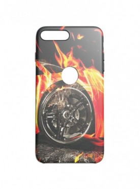 finest selection dccdf b1a19 Fire On Car Graphic Printed Mobile Back...