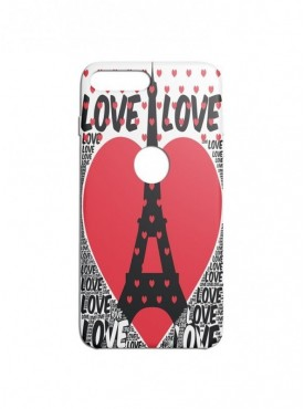 Love In Paris Graphic Printed Mobile Back Cover (Xiaomi Mi A1 Cases & Covers) For Xiaomi Mi A1