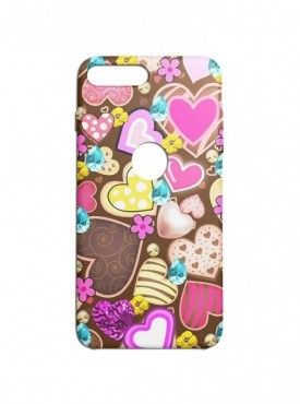 Heart Candy Pattern Graphic Printed Mobile Back Cover (iPhone 7 Plus Cases & Covers) For iPhone 7 Plus