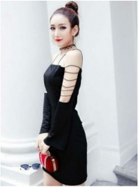 Sexy Fashion 2 Colors Off Shoulder Bodycon Dress