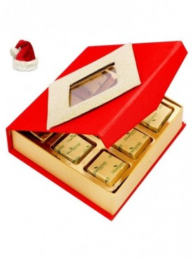 Christmas Gifts Chocolates- Red 9 pcs Chocolate Box