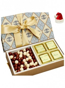 Christmas Gifts Chocolates Hampers- Grey 4 pcs Chocolate and Nutties Box
