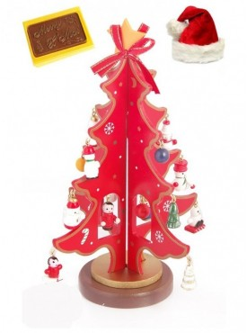 Wooden Tree with Christmas Chocolate Bar