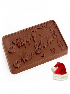 Christmas Gift Chocolates-Sugarfree Happy New Year Chocolate Bar