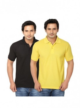 Ansh Fashion Wear Regular Fit Polo T-shirt for Men