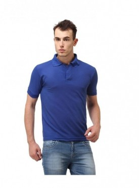 Ansh Fashion Wear Cotton Blend Polo T-Shirt