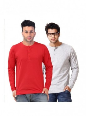 Ansh Fashion Wear Men Henley T-shirt Pack of 2