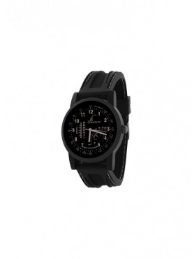 Jack Klein Fully Black Dial Silicone Strap High Quality Wrist Watch For Men