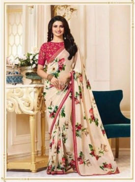 Eleez Fashion Starwalk Vinay Floral Saree With Embroidered Blouse