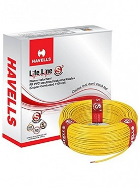 Havells Lifeline Cable 0.75 Sq Mm Yellow
