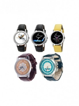 Jack Klein Combo Of Synthetic Leather Multicolor Analog Round Wrist Watch