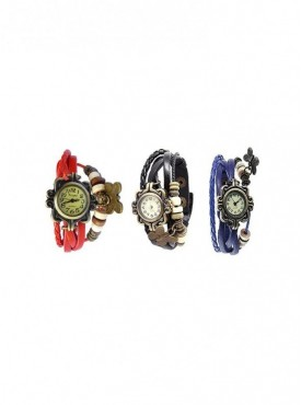 Special Combo of 3 Different Colors Vintage Watches For Women