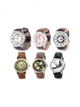 Combo of 6 Different Watches For Men, Women
