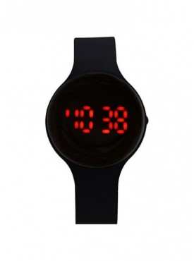 Jack klein Round Dial Black Digital Led Band