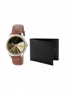 Jack klein Combo of  Leather Strap Analog Wrist Watches For Men