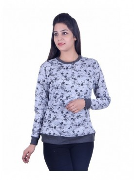 MG Wears Women Floral Print Sweat Shirt