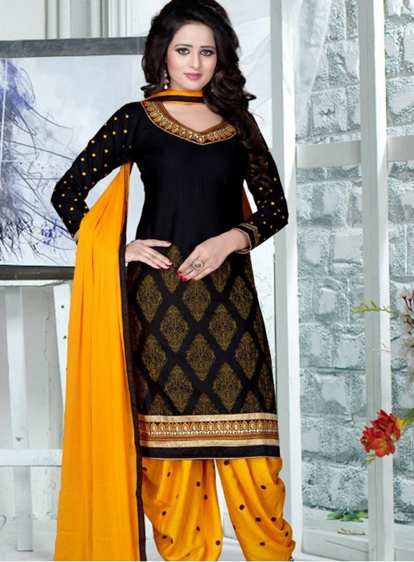 India Emporium Cotton Black Color Suits