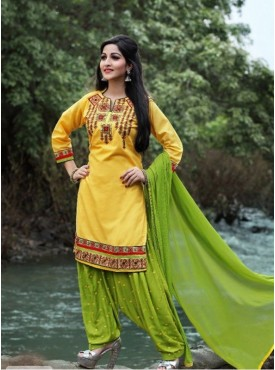 India Emporium Cotton Green Color Suits