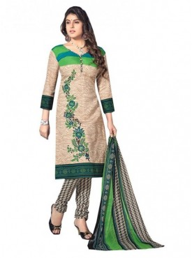 India Emporium Cotton Beige Color Suits