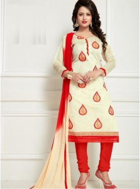 India Emporium Chanderi Cream Color Suits