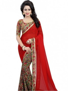 India Emporium Georgette Multi Colour Color Saree