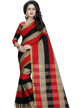 India Emporium Cotton Black Color Saree
