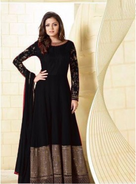 India Emporium Georgette Black Color Suits