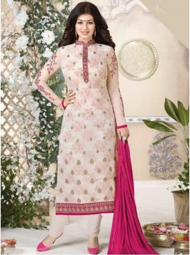 India Emporium Georegtte Off white Color Suits