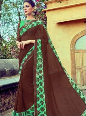 India Emporium Georgette Brown Color Suits