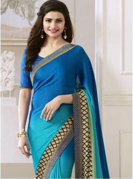 India Emporium Georgette Blue Color saree