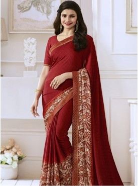 India Emporium Georgette Maroon Color saree