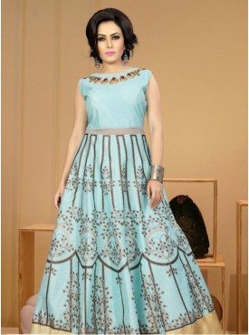 India Emporium Banglori Silk Sky Blue Color Suits