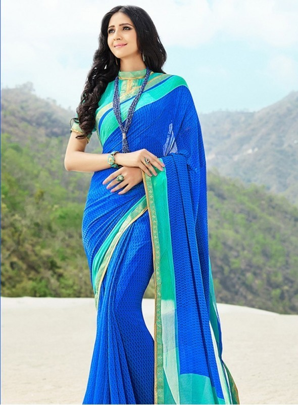 India Emporium Georgette Green Color saree