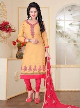 India Emporium Cotton Peach Color Suits